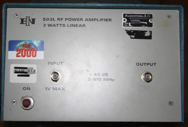 Power amp (1-500 MHz) 3W, 40 dB gain